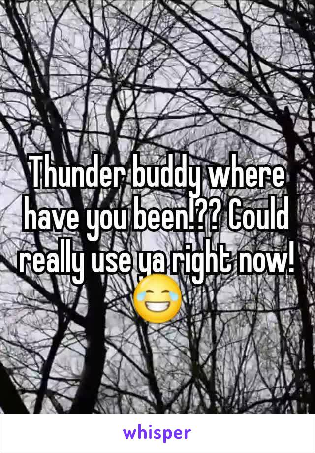 Thunder buddy where have you been!?? Could really use ya right now! 😂