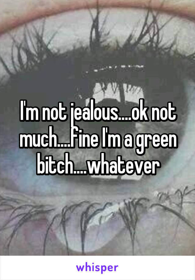 I'm not jealous....ok not much....fine I'm a green bitch....whatever