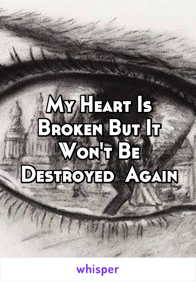 My Heart Is Broken But It Won't Be Destroyed  Again