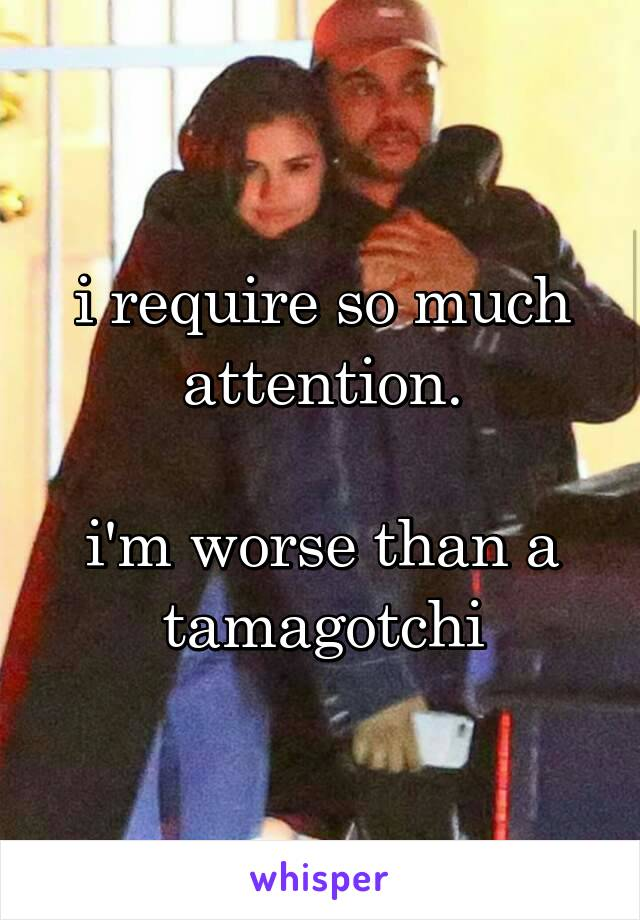 i require so much attention.  i'm worse than a tamagotchi