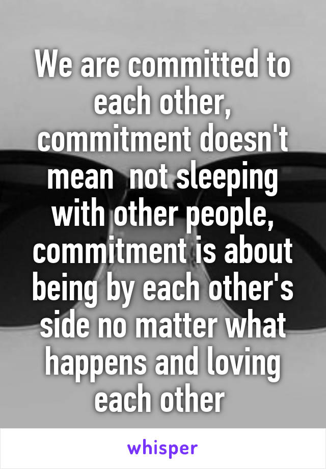 commitment to each other