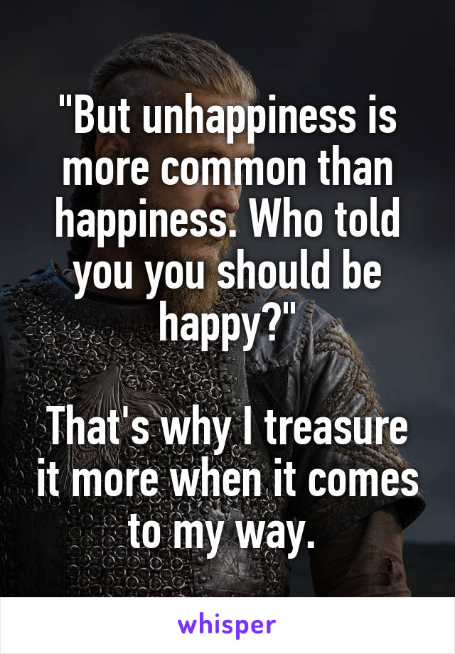 why you should be happy