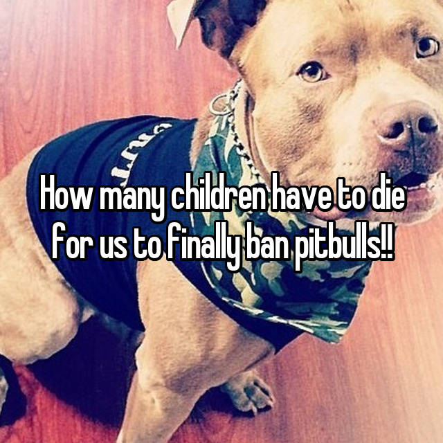 How many children have to die for us to finally ban pitbulls!!