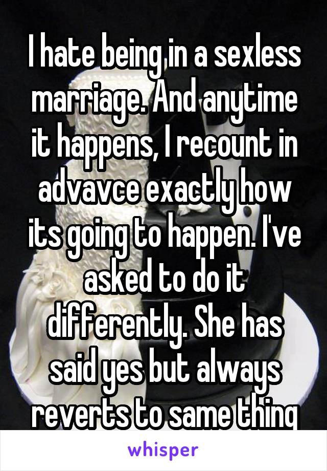being in a sexless marriage