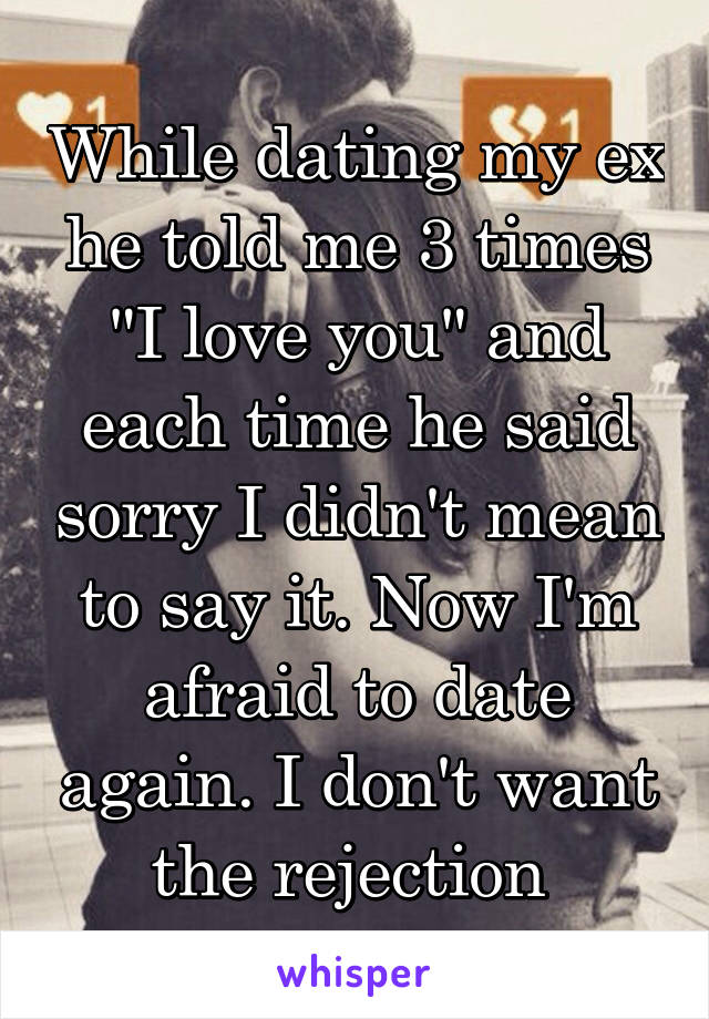 Dating while in love with ex