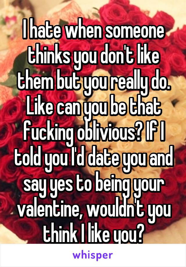 yes i will be your valentine