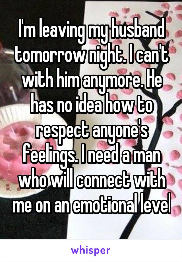 I need help leaving my husband