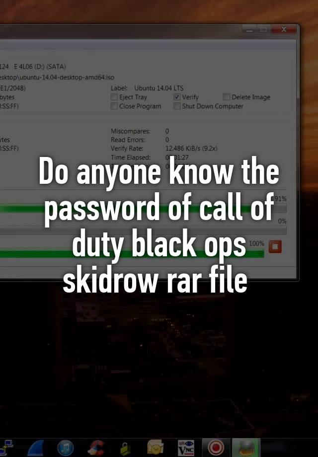 call of duty black ops skidrow rar password password txt