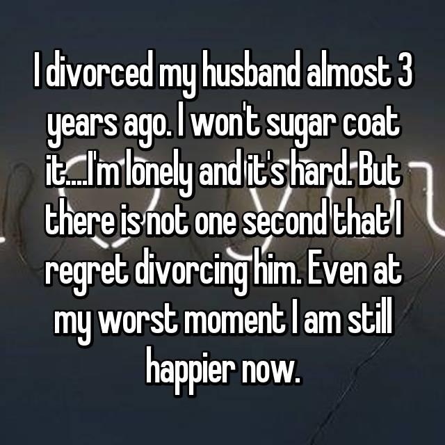 i regret divorcing my husband