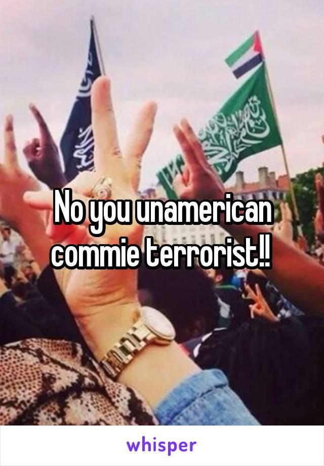No you unamerican commie terrorist!!