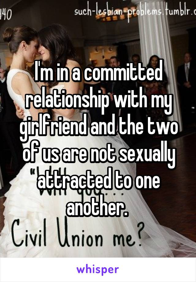 Not sexually attracted to girlfriend
