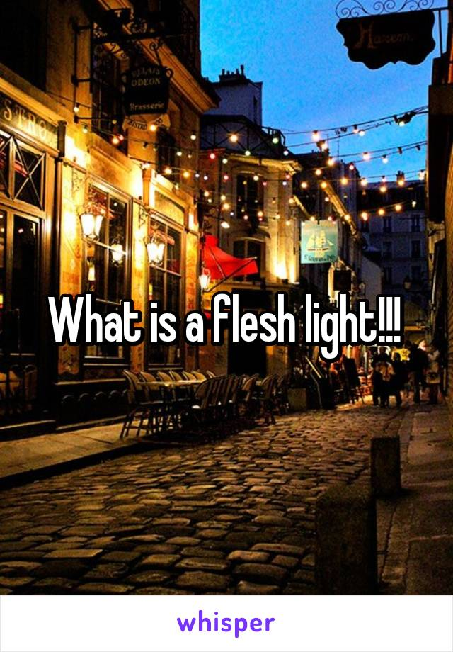 What Is A Flesh Light!!!