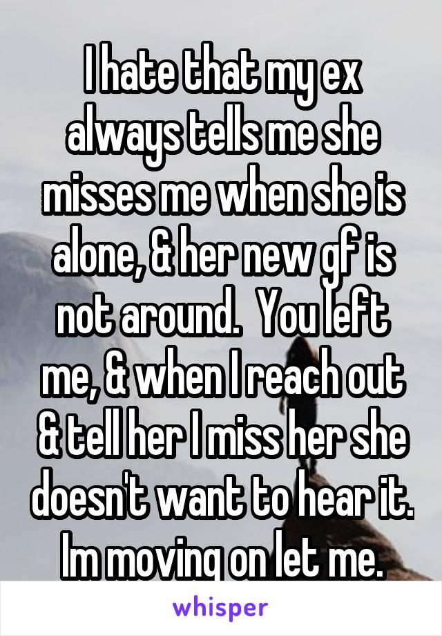 Me ex misses What Is