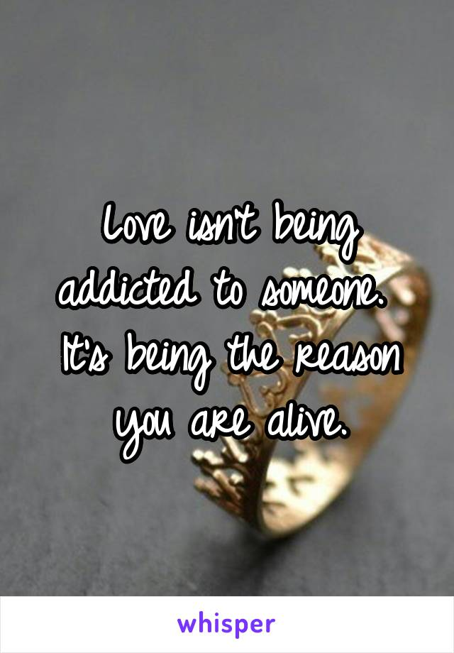 addicted to being in love