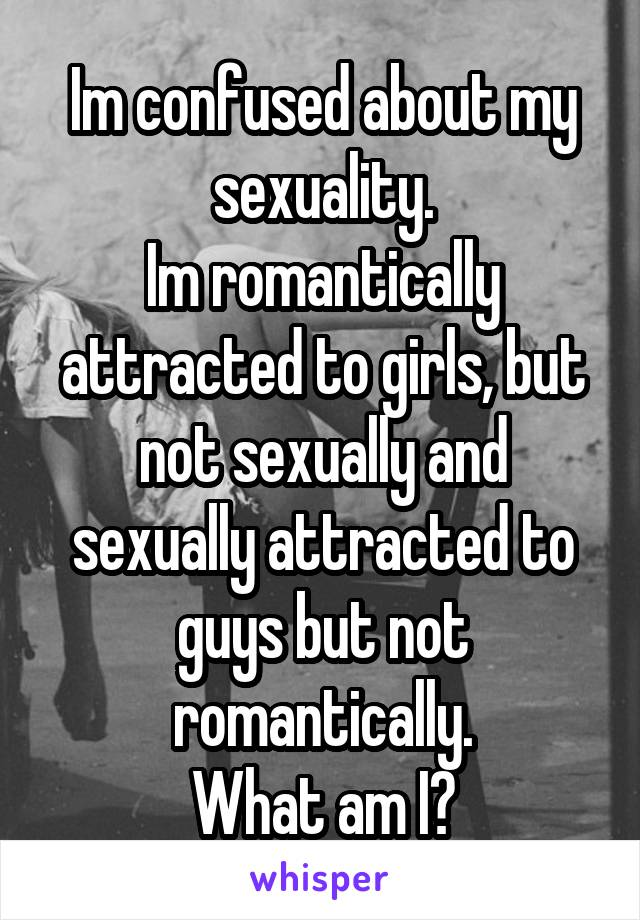 Sexually attracted to guys but not romantically
