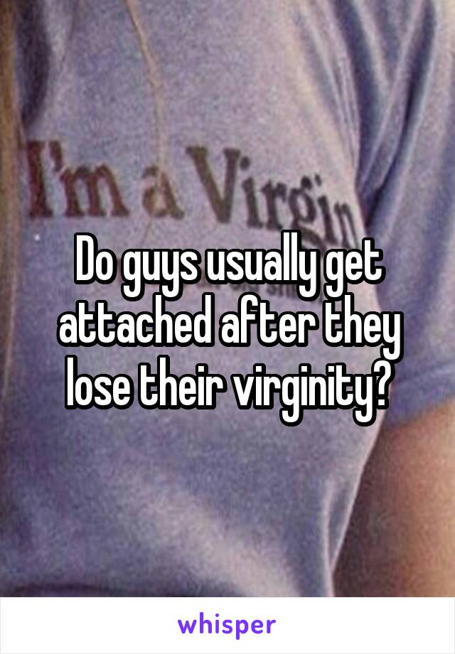 Consider, losing virginity getting attached thanks for