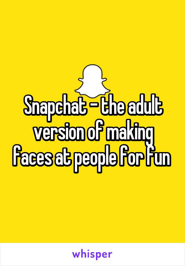 Adult snapchat