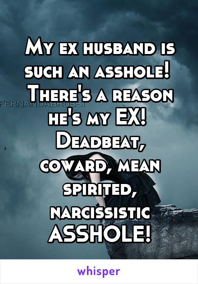 Narcissistic ex husband
