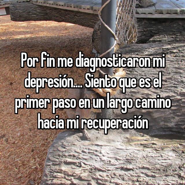 Por fin me diagnosticaron mi depresión.... Siento que es el primer paso en un largo camino hacia mi recuperación