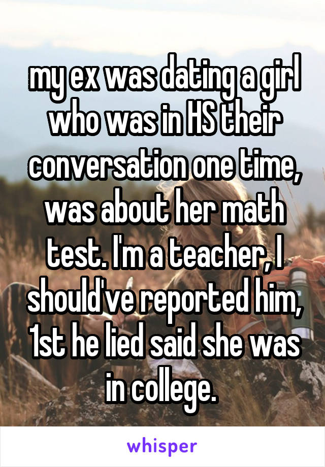 I Am Dating My Ex Teacher