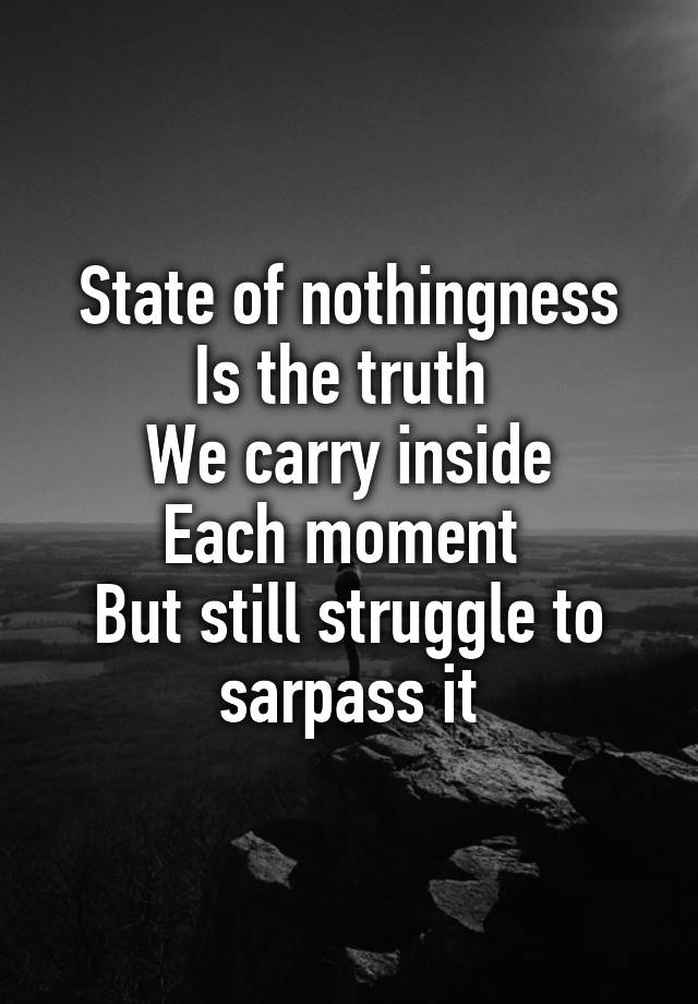 Image result for state of nothingness