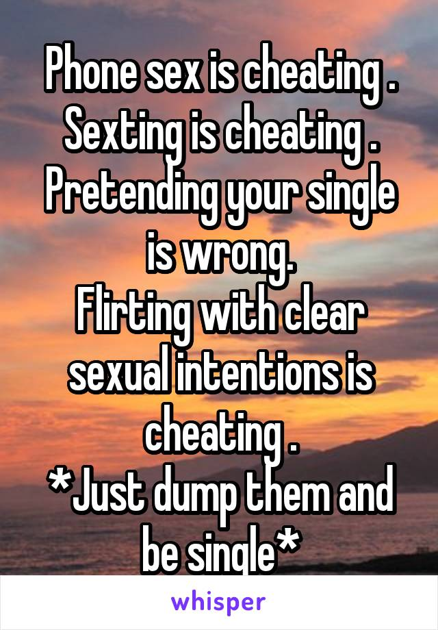 Is phone sex considered cheating