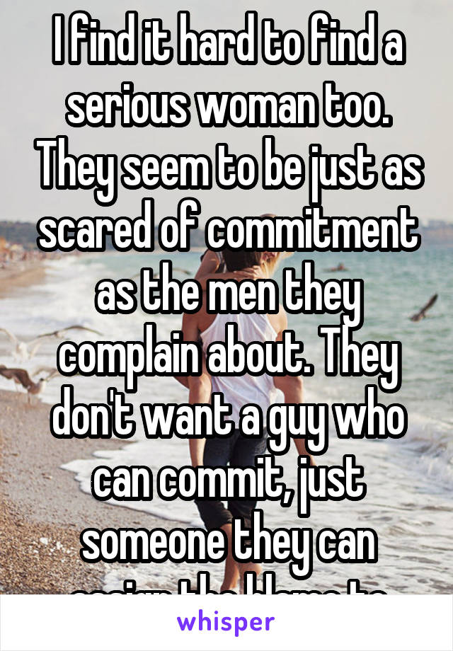 Woman scared of commitment
