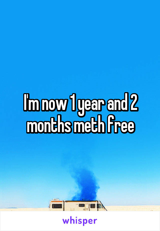 I'm now 1 year and 2 months meth free