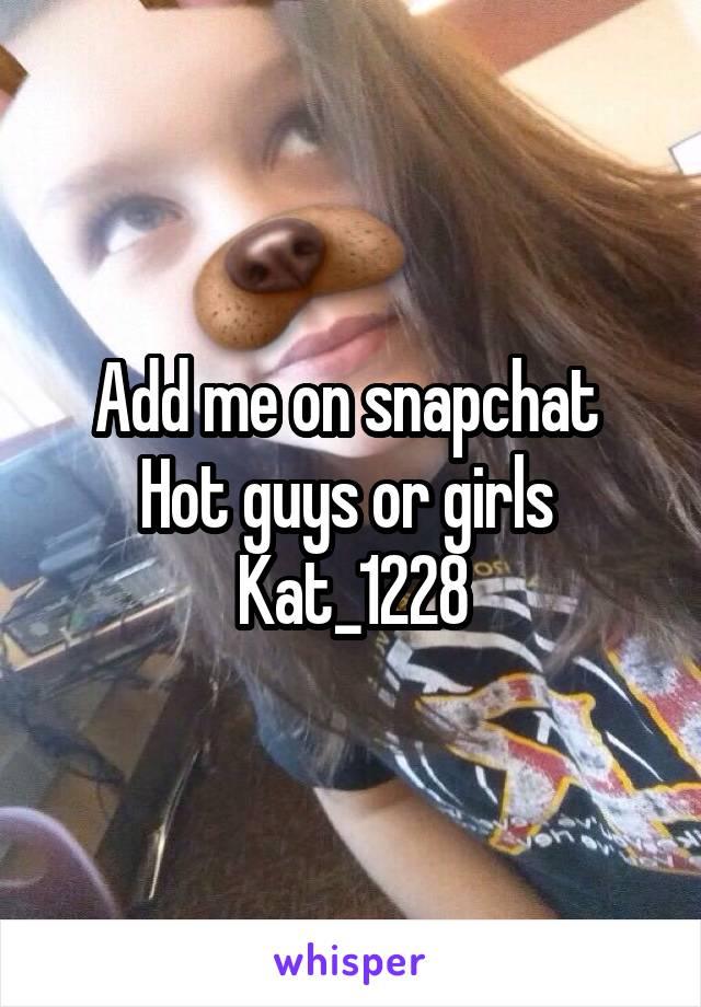 Snapchat hot guys