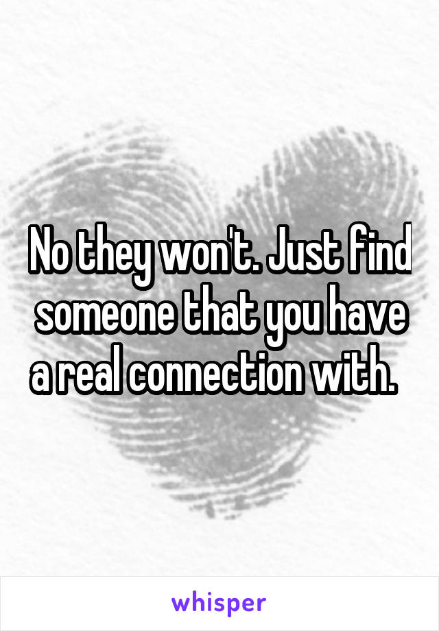 finding a connection with someone