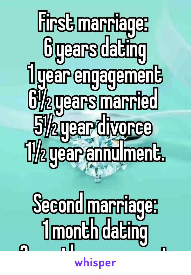 Dating 1 month vs 1 year
