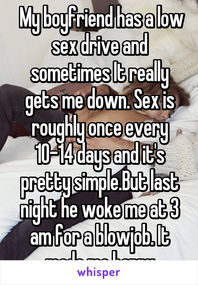 Low sex drive at night
