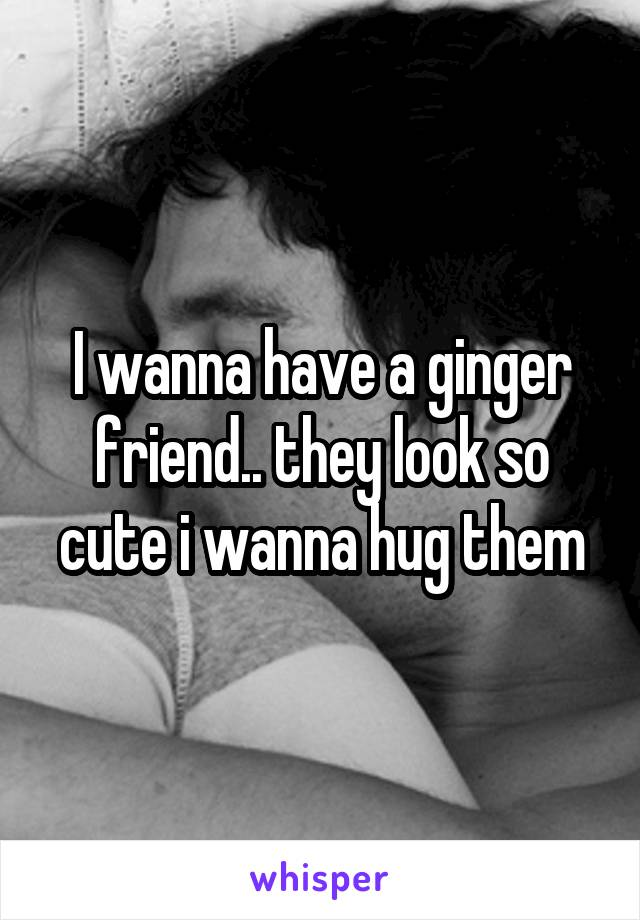 I wanna have a ginger friend.. they look so cute i wanna hug them