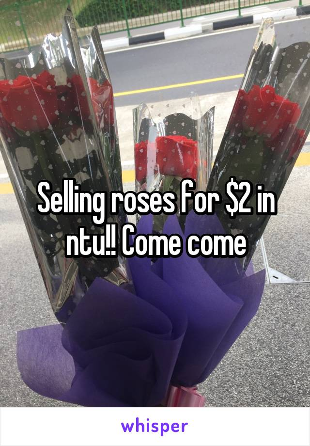 Selling roses for $2 in ntu!! Come come