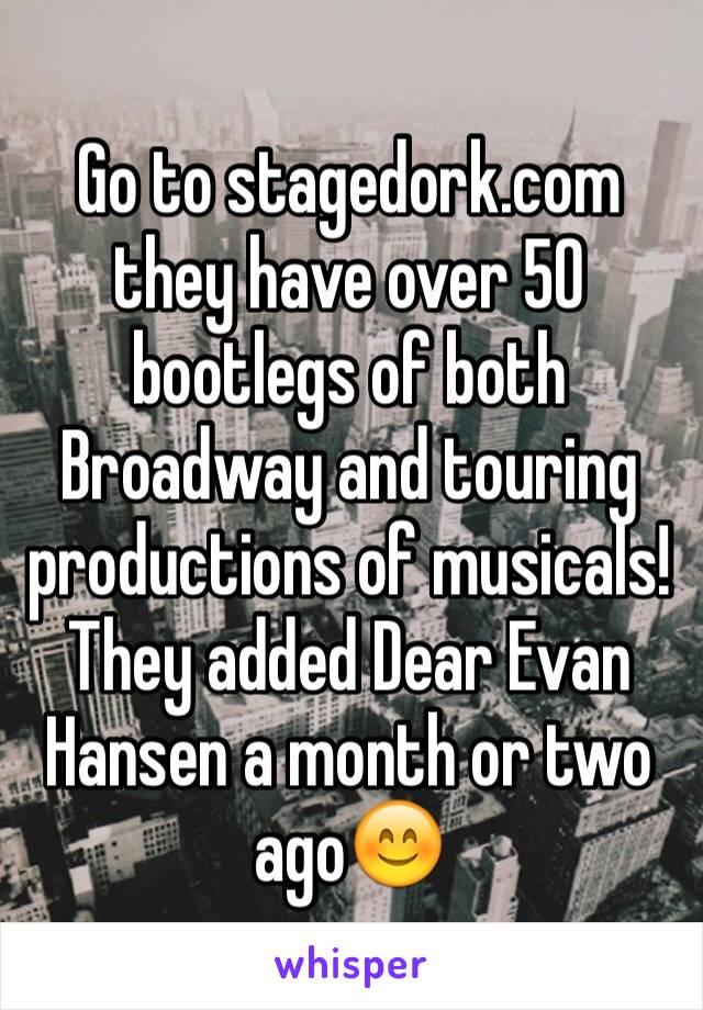 Bootlegs Broadway