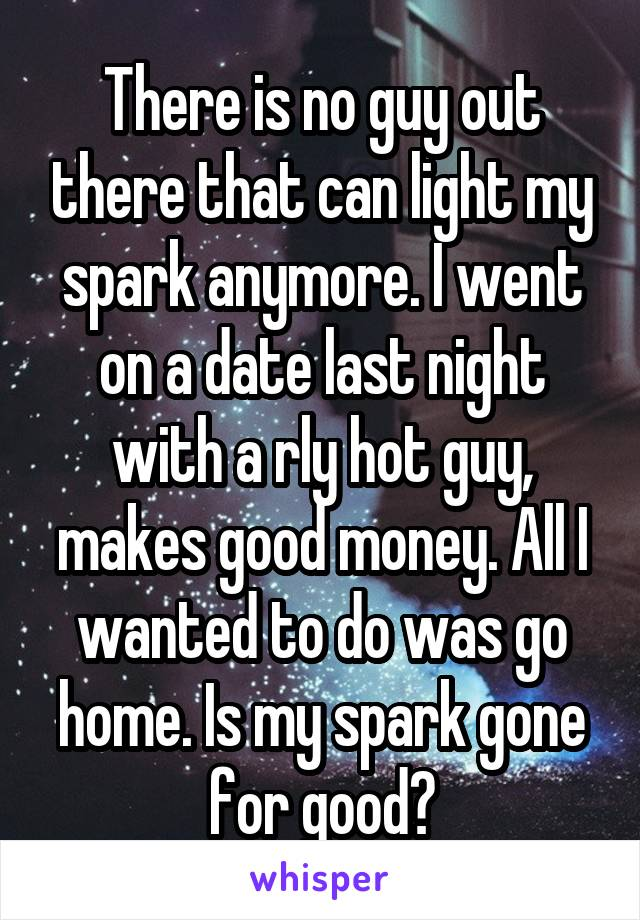 dating nice guy no spark