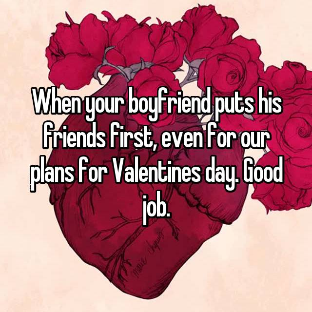 boyfriend puts his friends first