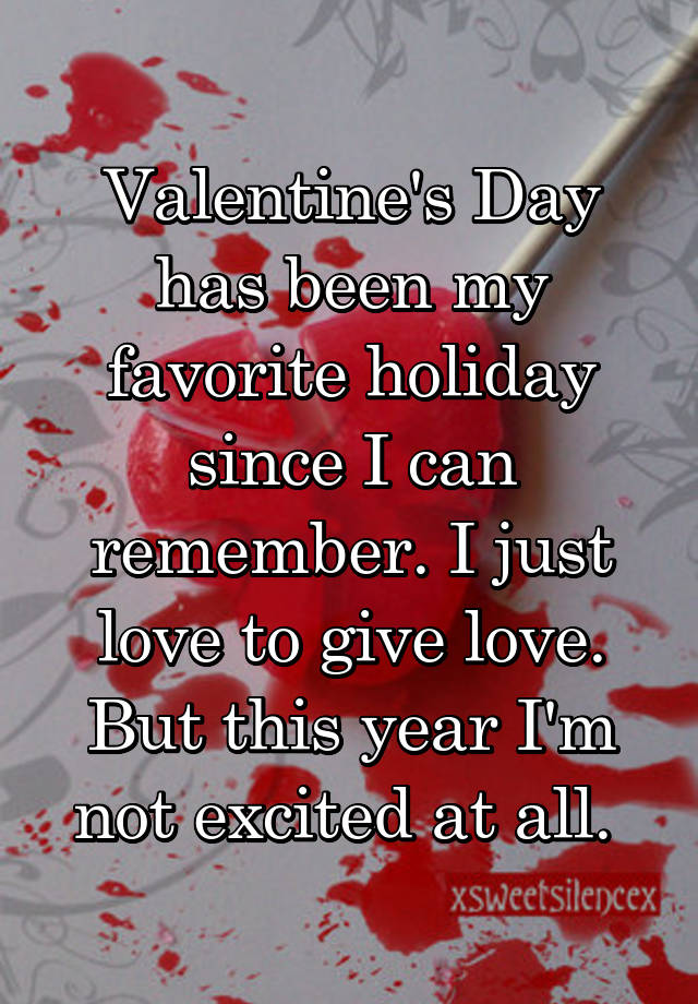 why valentines day my favorite holiday