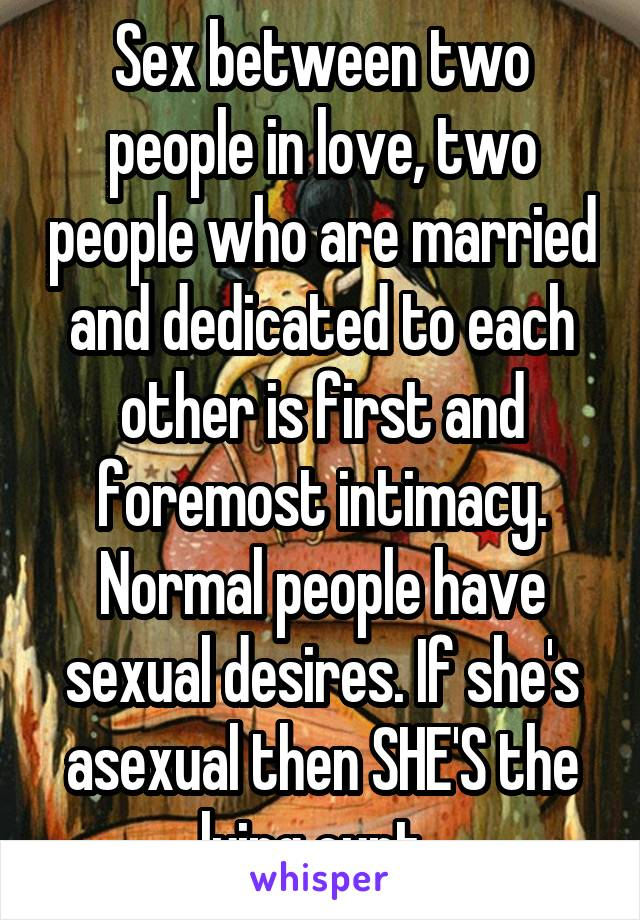 Above told sex between two people