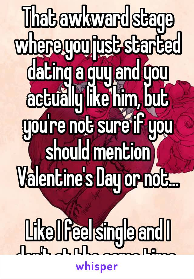 Just started dating a guy valentines day