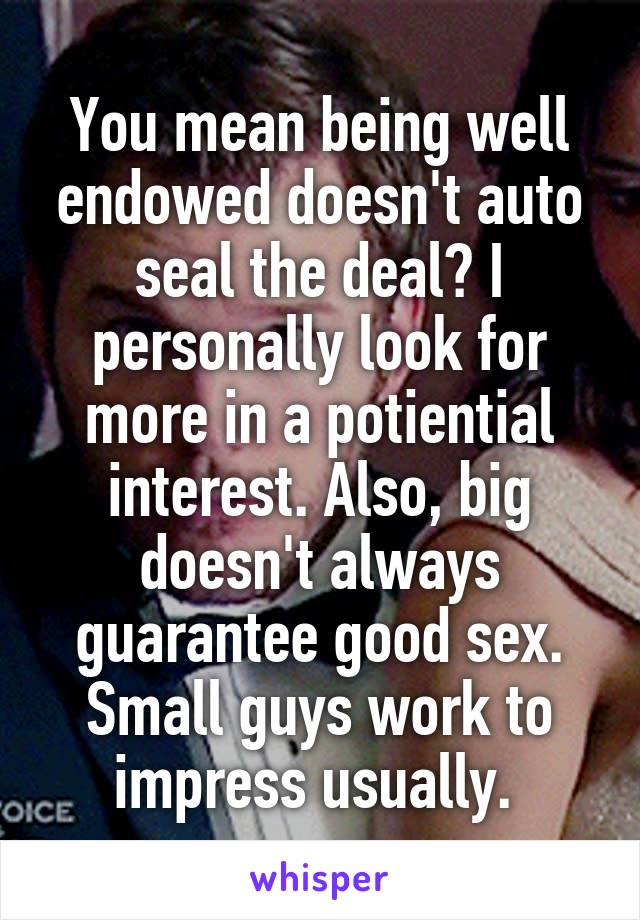 Well man for what does a mean endowed What does