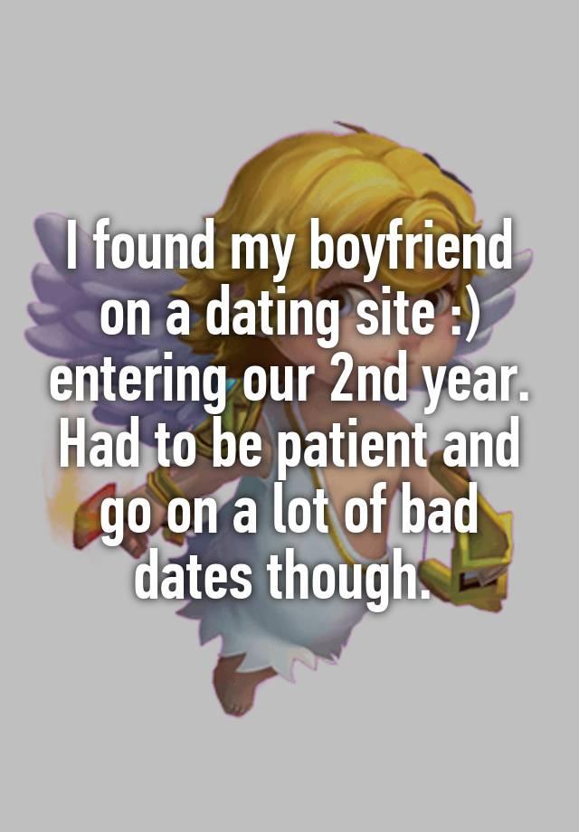 boyfriend on dating site