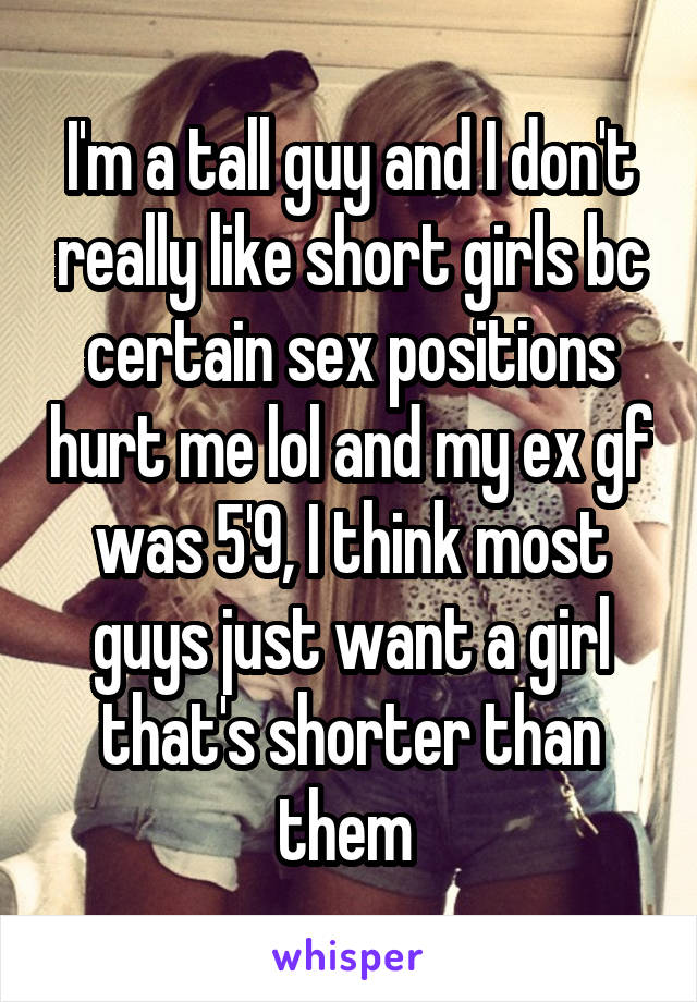 sex positions for tall guy and short girl