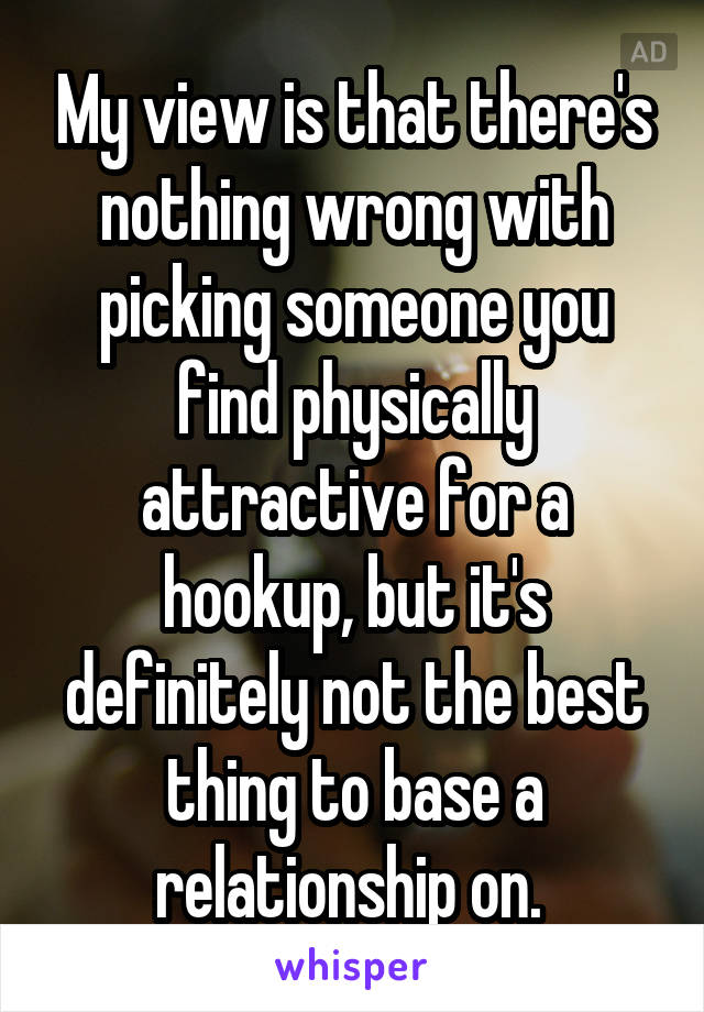 Hookup someone you dont find physically attractive