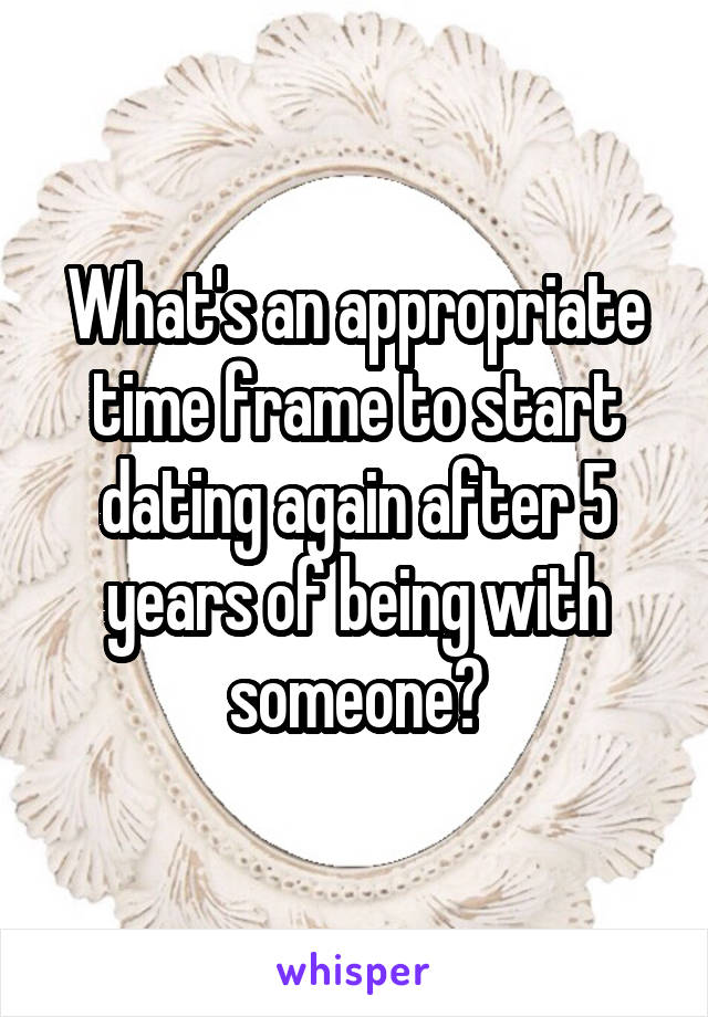 dating again after 5 years