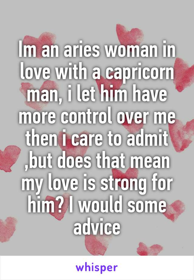 Capricorn guy and aries girl