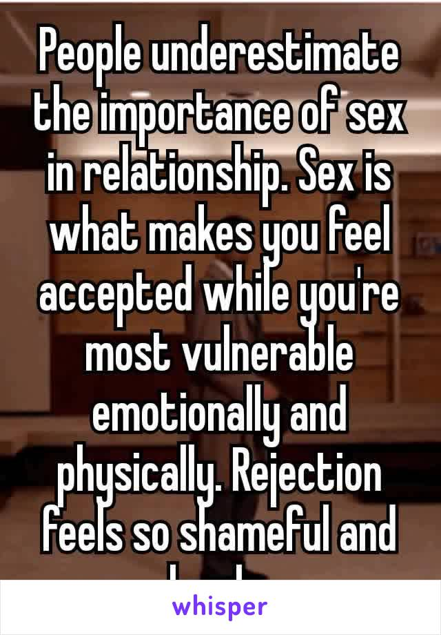 What Is The Role Of Sex In A Relationship