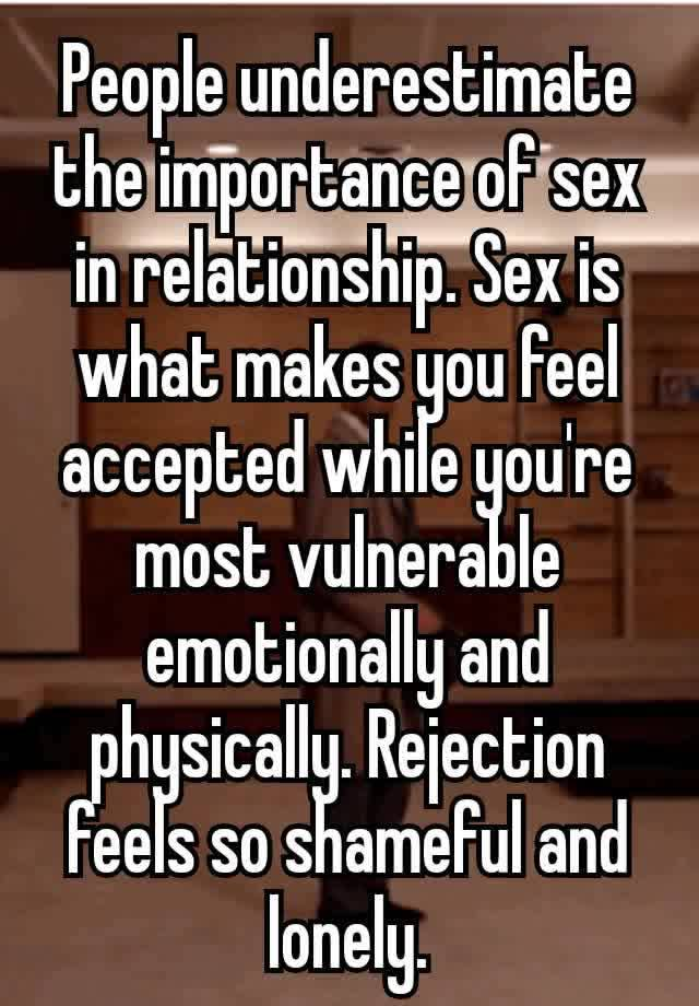 Importance of sex in a relationship