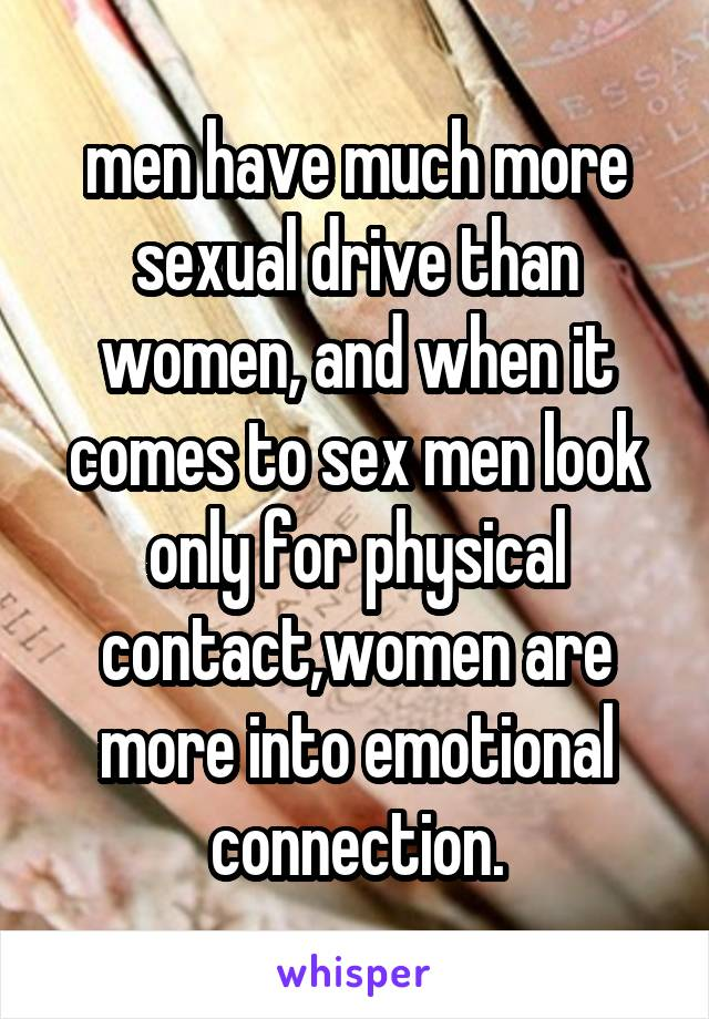 Men emotional connection