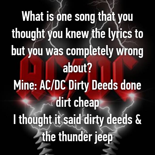 What is one song that you thought you knew the lyrics to but